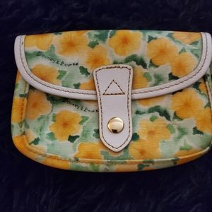 Dooney and burke coin purse yellow flower